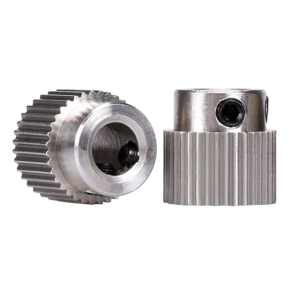 MK8 Gear 36 Tooth Stainless Steel Bore 5MM MK8 Extruder Stepper Motor Pulley Extrusion Wheel Like MK7 For 3D Printers Parts