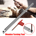 250mm 12mm R6 Round Wooden Turning Tool Chisel Alloy Carbide Tip Bit Lathe Tool Set with 1Pcs T15 Wrench