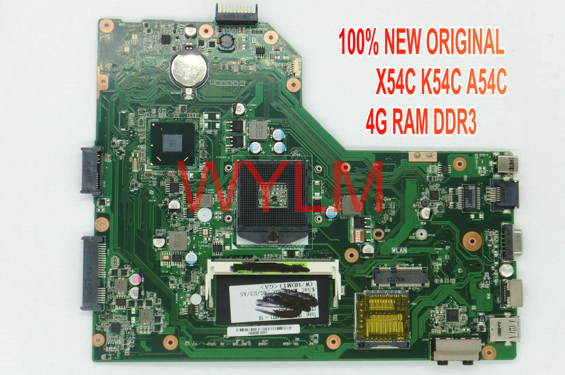 free shipping NEW brand original A54C X54C K54C motherboard MAINBOARD MAIN BOARD REV 2.1 4G RAM memory DDR3 USB 3.0 TESTED WELL  original notebook motherboard x54c k54c for asus rev 2 1 system pc mainboard with ram on board