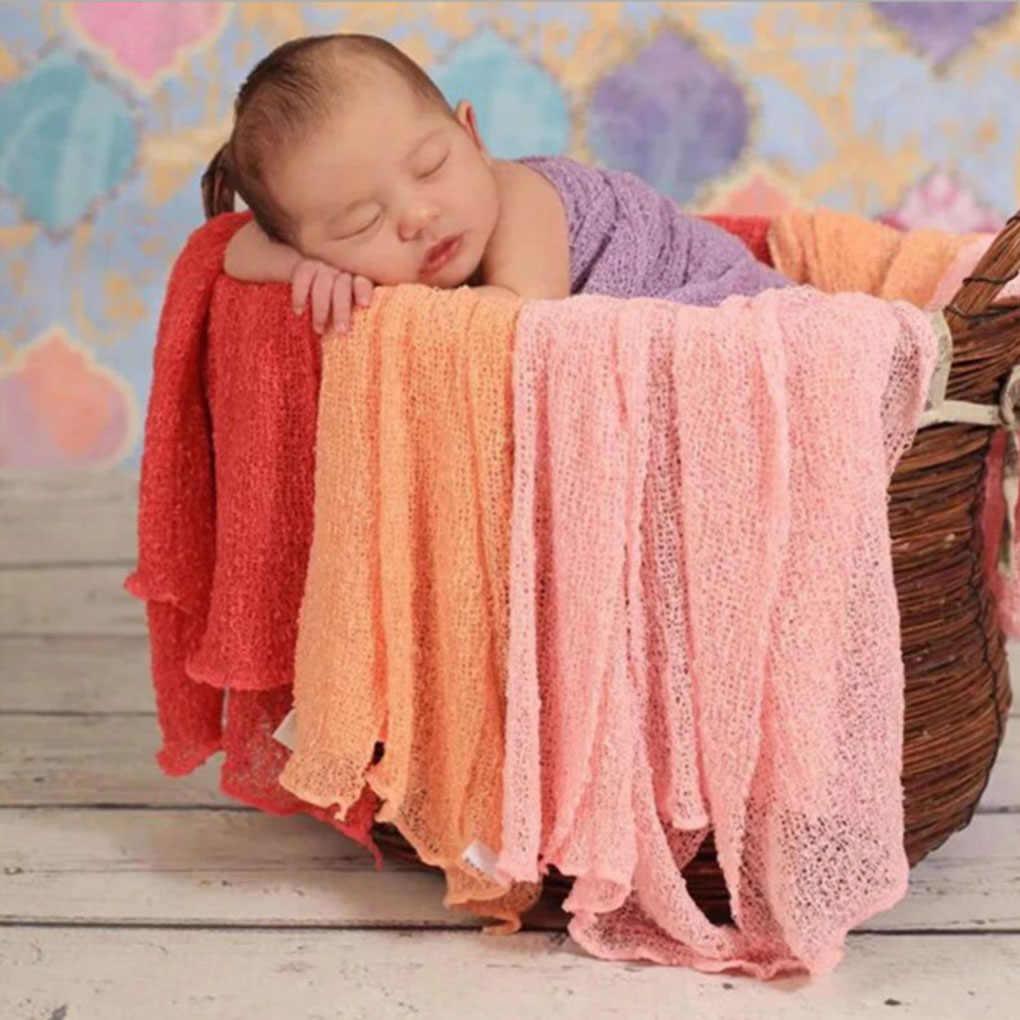 20 色ソフトベビーの写真の小道具ブランケットラップストレッチニットラップ新生児写真ラップ布アクセサリー