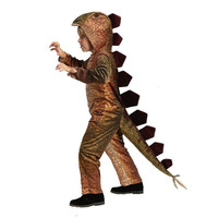 High Quality Orange Children Stegosaurus Cosplay Clothing Halloween Dinosaur Kids Animals Performance Costume