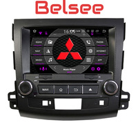 Belsee Android 8.0 auto head unit double 2 din car radio multimedia player octa core stereo for Mitsubishi Outlander 2006 2012