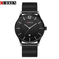 2017 Men Watches Luxury Brand CURREN Watches Men Clock Man Ultra Thin Full Steel Military Male