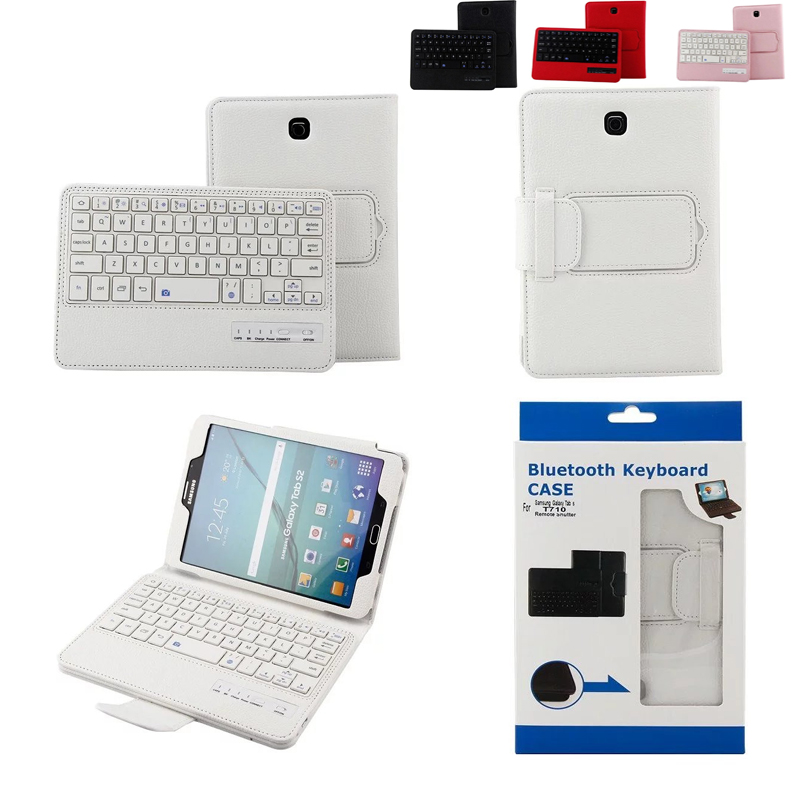 For Samsung GALAXY Tab S2 8.0 T710 T715 Removable Wireless Bluetooth Keyboard Portfolio Folio PU Leather Case Cover
