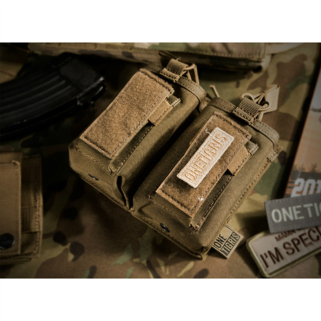 OneTigris Open-Top Double Rifle/Pistol Magazine Pouch Tactical AR/AK/G36/Glock/M1911/92F Mag Pouch For Airsoft Paintball
