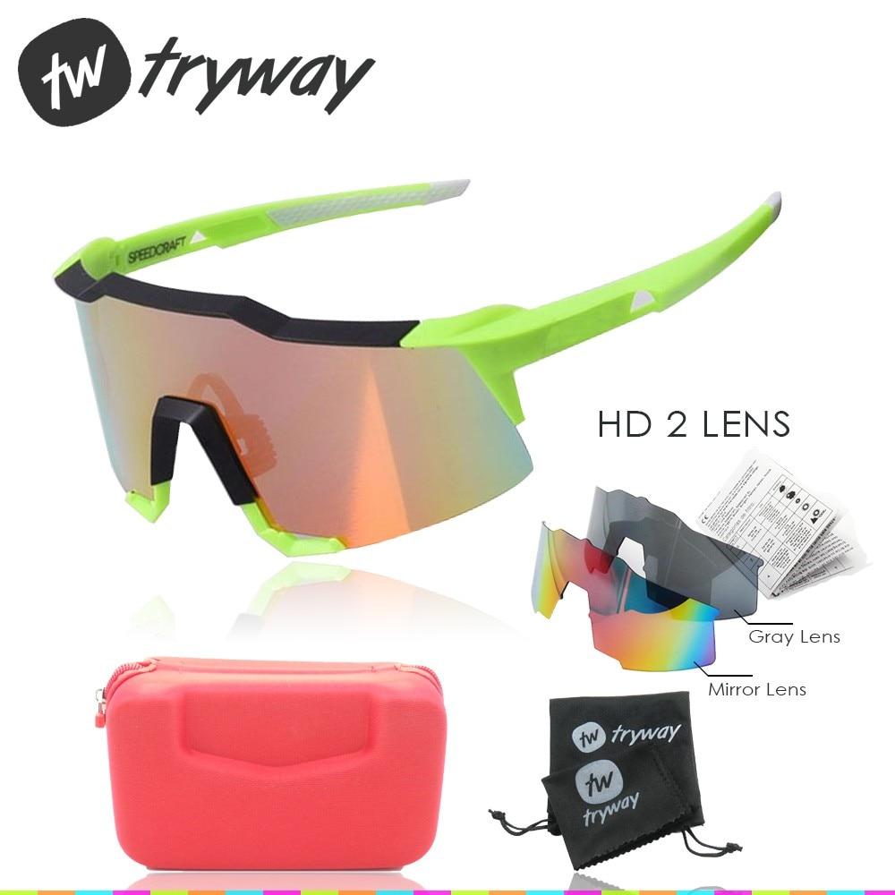 Prix pour 2017 SpeedCraft lunettes de Soleil 2 lentille UV400 sports de plein air cyclisme vélo Lunettes motos lunettes VTT Route ciclismo Vélo oculos
