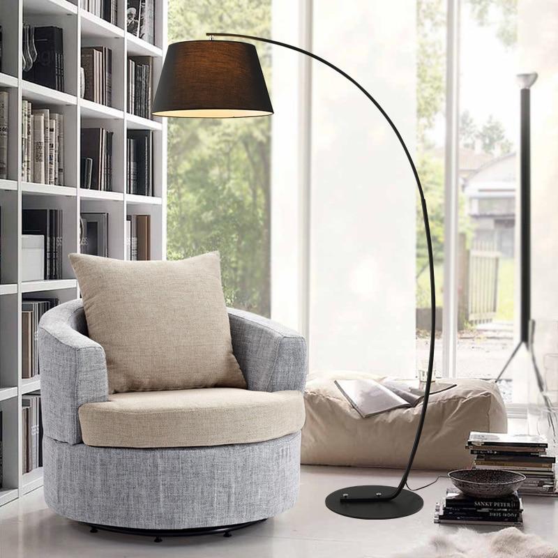Moderne Vissen Vloerlamp zwart wit lampenkap Twiggy Terra vloerlamp ...
