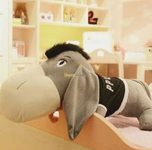 Fancytrader 55  140cm JUMBO Giant Plush Stuffed Big Head Donkey Burro Toy Kids Gift Free
