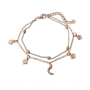 New Boho Multilayer Shell Beads Anklets For Women Moon Sun Vintage Beach Rope Ankle Bracelet on Leg Summer Foot Jewelry 5