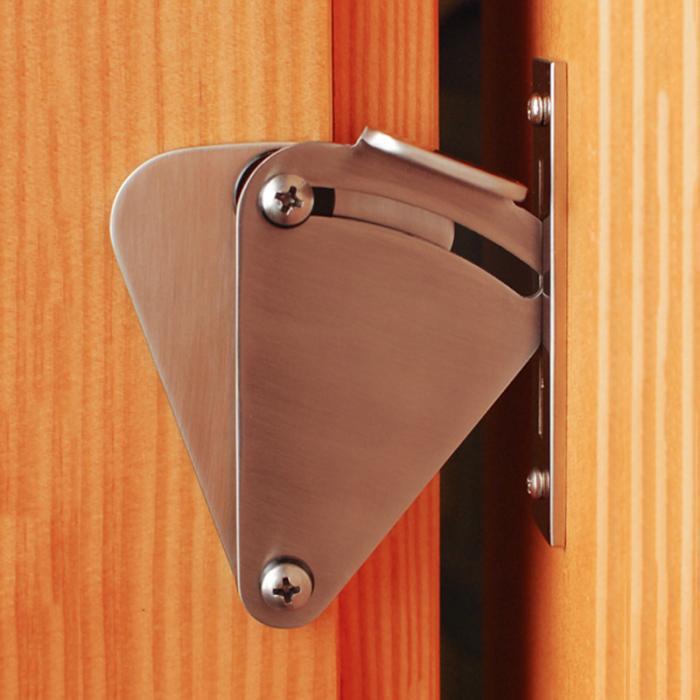 Раздвижной замок двери сарая из углеродистой стали Тяговая дверная защелка оборудование подходит для дверей всех размеров_ WK