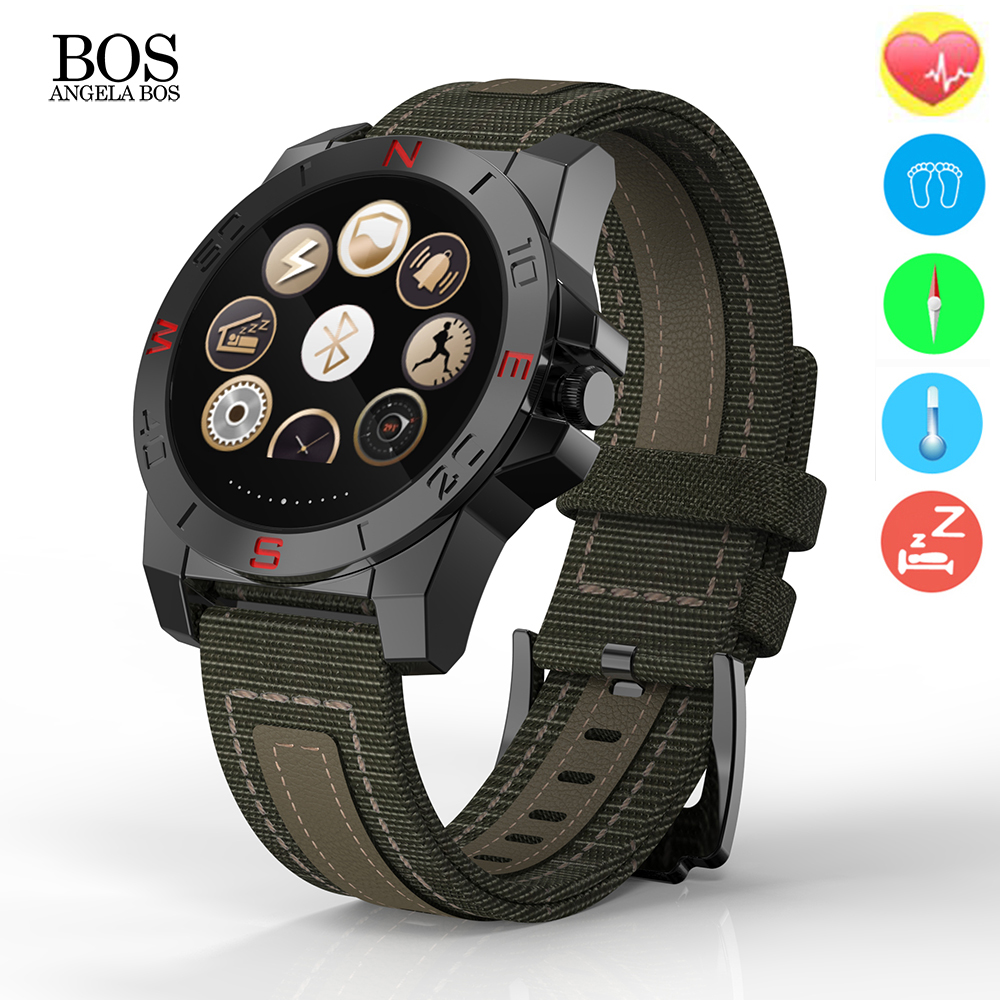Outdoor Sport Heart Rate Monitor Samrt font b Watch b font Thermometer Altimeter Barometer Compass Fitness