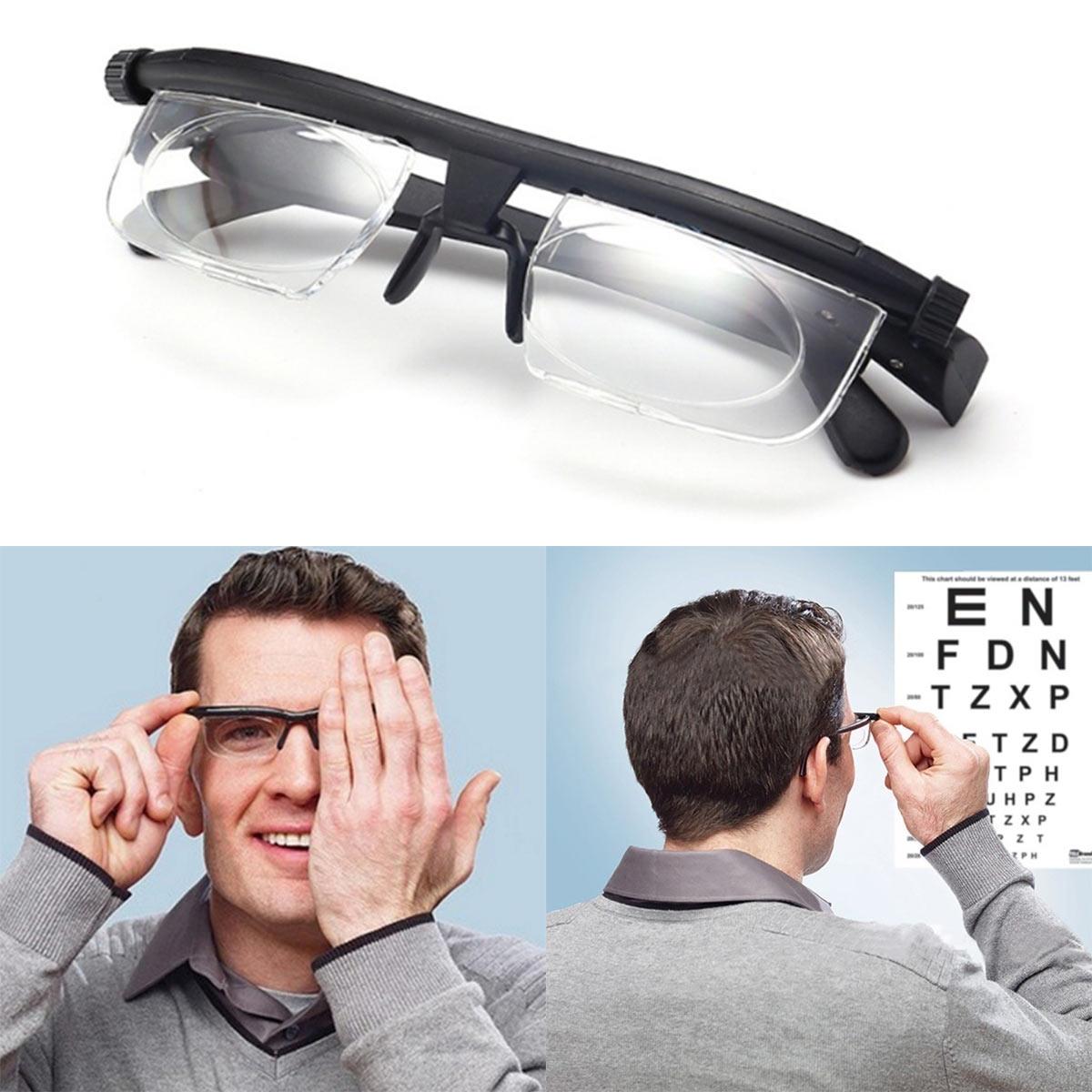Myopia-Glasses Adjustable Lens Strength Focus-Reading Vision Variable Lenses Correction