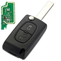 2 Düğmeler 433 MHz PCF7961 Transponder Uzaktan Fob Araba Anahtarı Peugeot 207 307 308 407 Için Ücretsiz Kargo D25