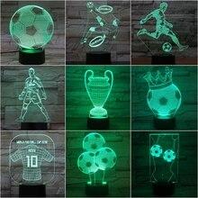 Kids 3d Lamp Football Led Night Light C Ronaldo Home Deocration Luminaria Child Boy Birthday Gift Messi Table Nightlight Soccer