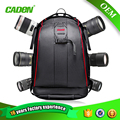 Caden hombros bolsas de poliéster hombres mujeres mochilas grandes negro de la cámara de fotos digital camera case mochila para canon nikon