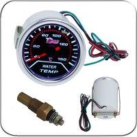 2 52MM Universal Water Temperature Car Gauge 40 150 C Meter Auto White LED