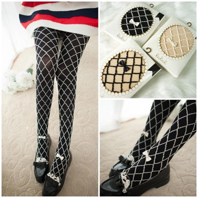 Princess gothic lolita pantyhose Japanese mesh manual bowknot sweet pantyhose LKW15