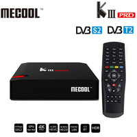 MECOOL KIII PRO Amlogic S912 Android 7,1 ТВ коробка DVB S2 DVB T2 DVB C 3 ГБ 16 ГБ Декодер каналов кабельного телевидения Поддержка CCcam 2,4 г /5 г Wi Fi OTA обновление
