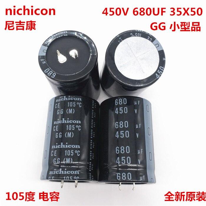 2PCS/10PCS 680uf 450v Nichicon GG 35x50mm 450V680uF Snap-in PSU Capacitor