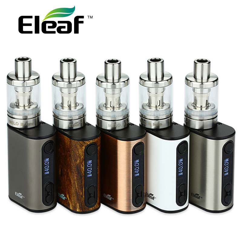 цена на 100% Original 40w Eleaf iStick Power Nano Full Kit with 1100mah Power Nano Battery 2ML Eleaf Melo 3 Nano Tank vs istick pico