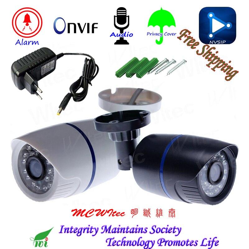 H.265 HD 1080 p Audio Microfono Esterno di telecamere di Sicurezza Ip ONVIF IR Cut Night View IP Cam Allarme di Movimento RTSP privacy Copertura