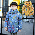 2016 New Children's Winter Jackets Boys Down Coat Short Paragraph Fashion Hooded Baby Clothes Thick Warm For 3-6 year