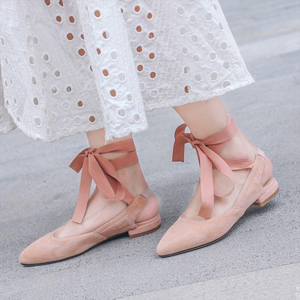 De Zapatos Primavera Verano Niño Punta red Mujer Sólido Colores Gamuza  Cuatro Plana Kvphan Planos Para Correa Moda Sexy ... 415ebb0ef7c4