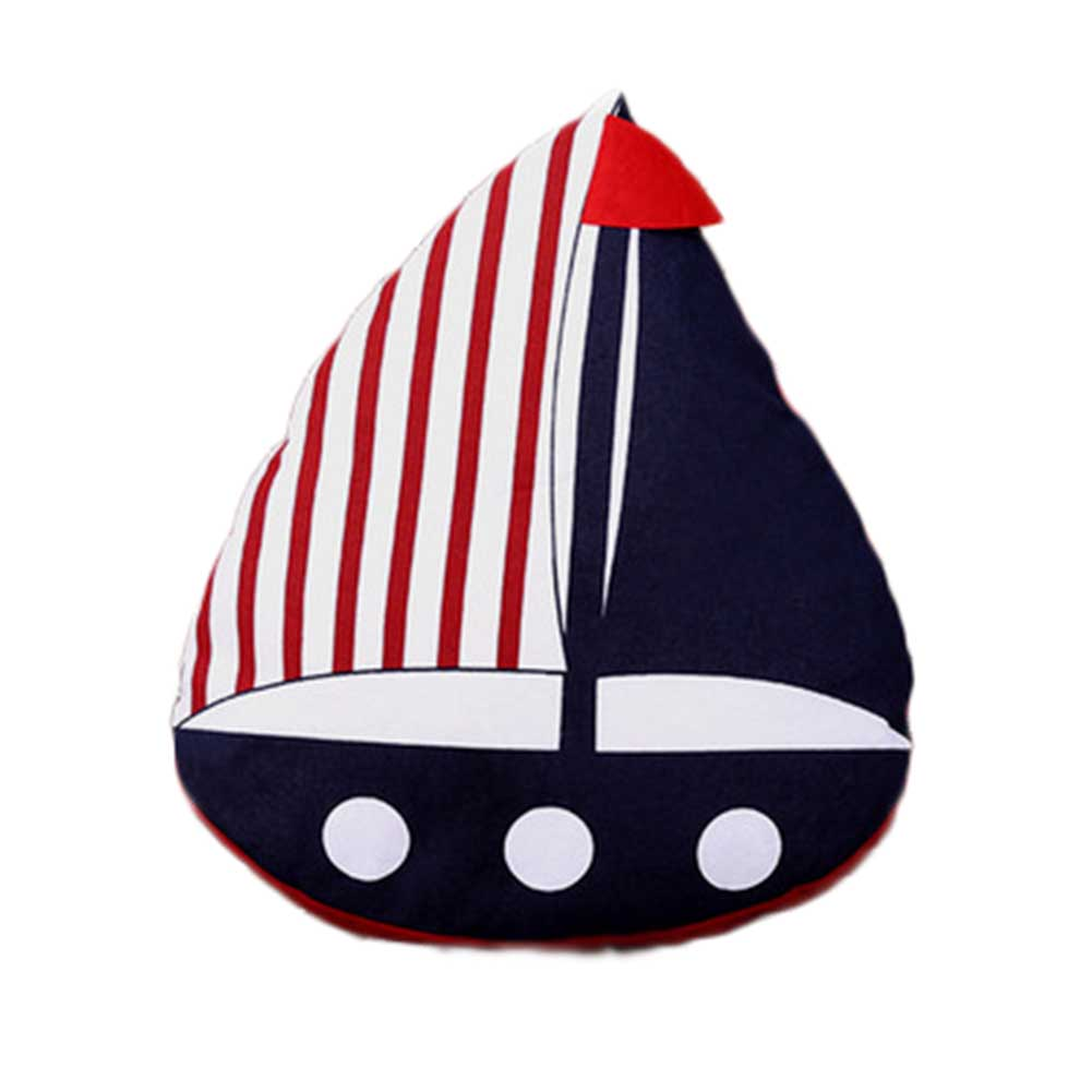2017 Creative Bolsters Striped Fish & Sailing Boat Decorative Pillows Almofada Mediterranean Hand-made DIY Deer Cushion