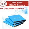 Original ZOPO ZP990 Battery High Quality 3000mAh Li-ion Battery Replacement For ZOPO ZP990 ZP990+ C7 Smart Phone Free Shipping