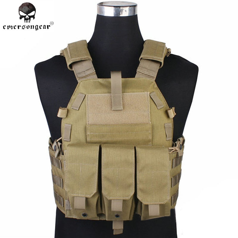 Emerson Molle Vest Hunting Game Tactical Vest Airsoft 094K M4 Pouch Emerson Vest Paintball Military Combat Gear EM7356 KH