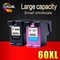 1BK и 1 COLOR для HP 60XL 60 Патрон Чернил для HP Deskjet D2530 D2545 F2430 F4224 F4440 F4480 ENVY120 C4650 C4680