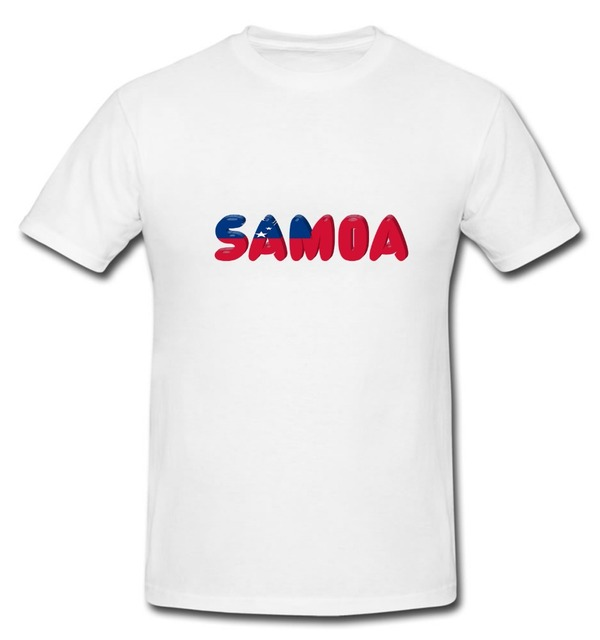 b7fecf70 Cotton Cool Design 3D Tee Shirts Samoa Samoan T-Shirt Country National Map  Flag Fun Novelty T-Shirt Summer Tee Shirt