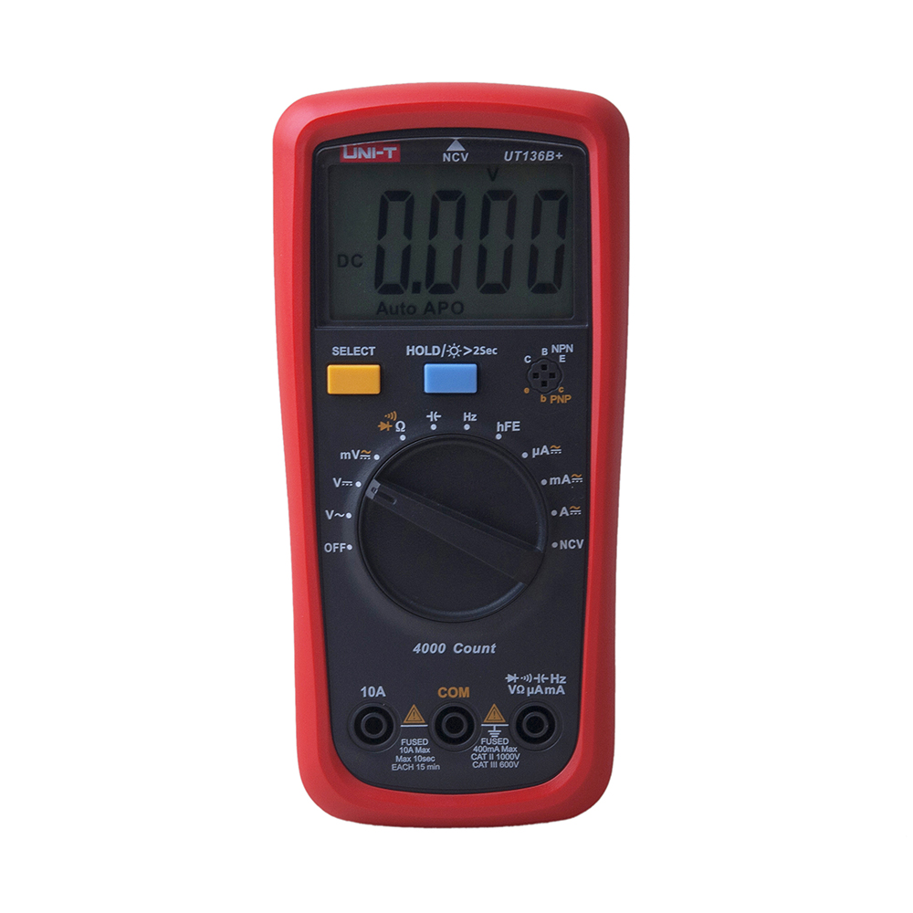 UNI-T UT136B+/UT136C+ Digital Multimeter AC/DC Voltage Current Ohm Diode Resistance Frequency Auto Range Meter aaa аккумулятор hama universal 87055 2 шт 1000мaч