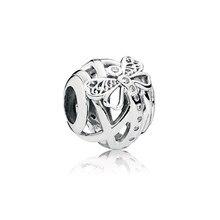 2d18fc2ee8bf40 Autentico 925 Sterling Silver Bead Dreamy Della Libellula di Fascino Fit  Donne Originali Pandora Braccialetto Del Braccialetto D..