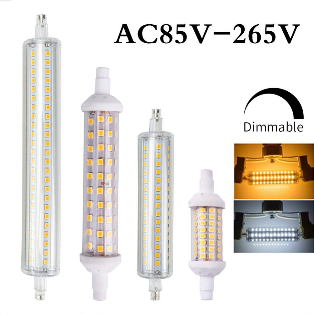 R7S J78 J118 Led Bulb Corn Lamp Dimmable 78mm 118mm 135mm 189mm Replace Halogen 25W 150W 500W Spotlight Floodlight AC220V 110V high power dimmable 189mm led r7s light 50w cob r7s led lamp with cooling fan replace 500w halogen lamp