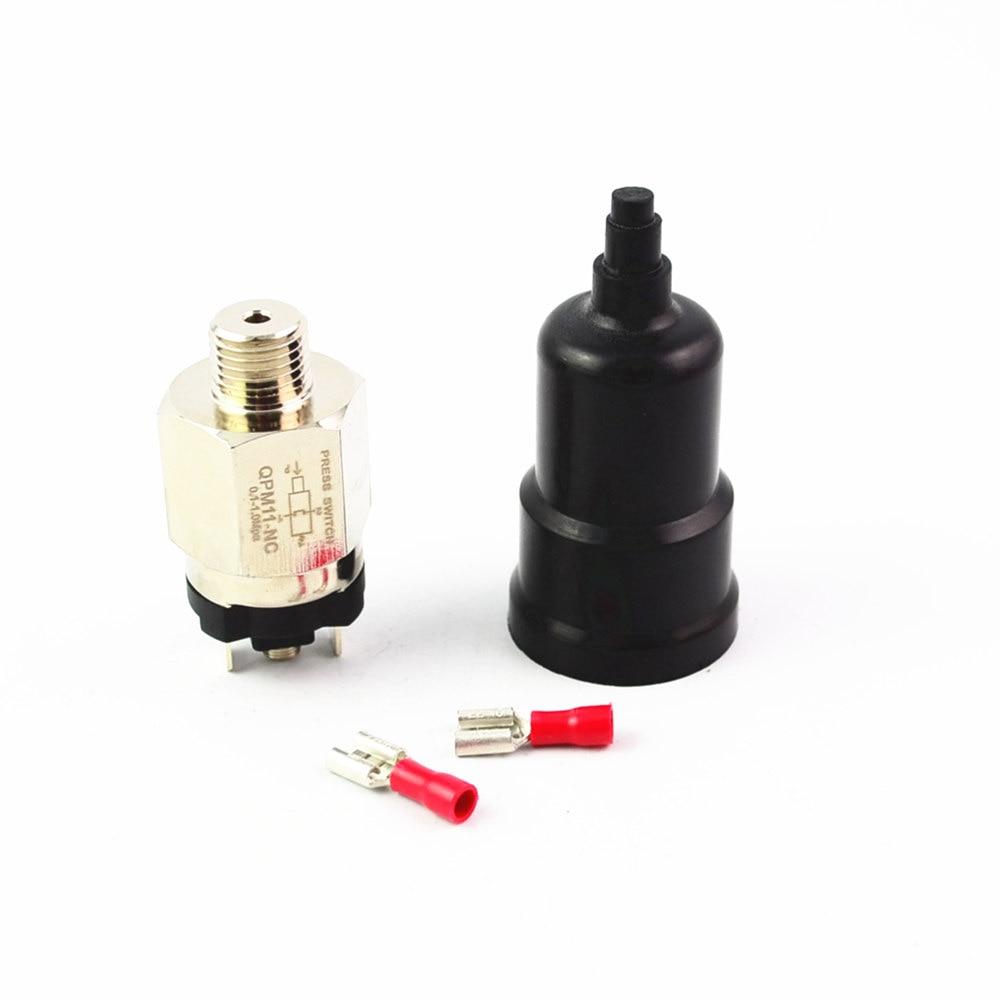 1/4'' Pressure Swtich Adjustable QPM11-NC / QPM11-NO 0.1-1Mpa Pressure Switch Wire External Thread Nozzle Pressure Transmitters.