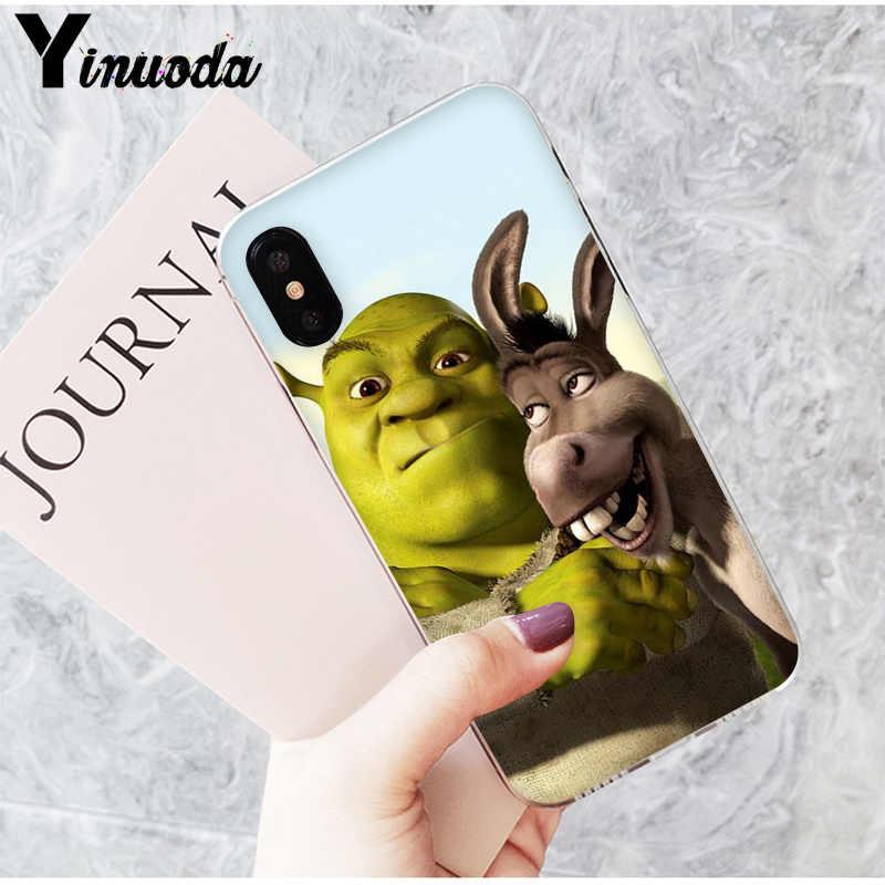 Yinuoda Bodoh dan Indah Shrek Dicat Indah Aksesoris Case untuk iPhone 6S 6 Plus 7 7 Plus 8 8Plus X XS Max 5 5S XR
