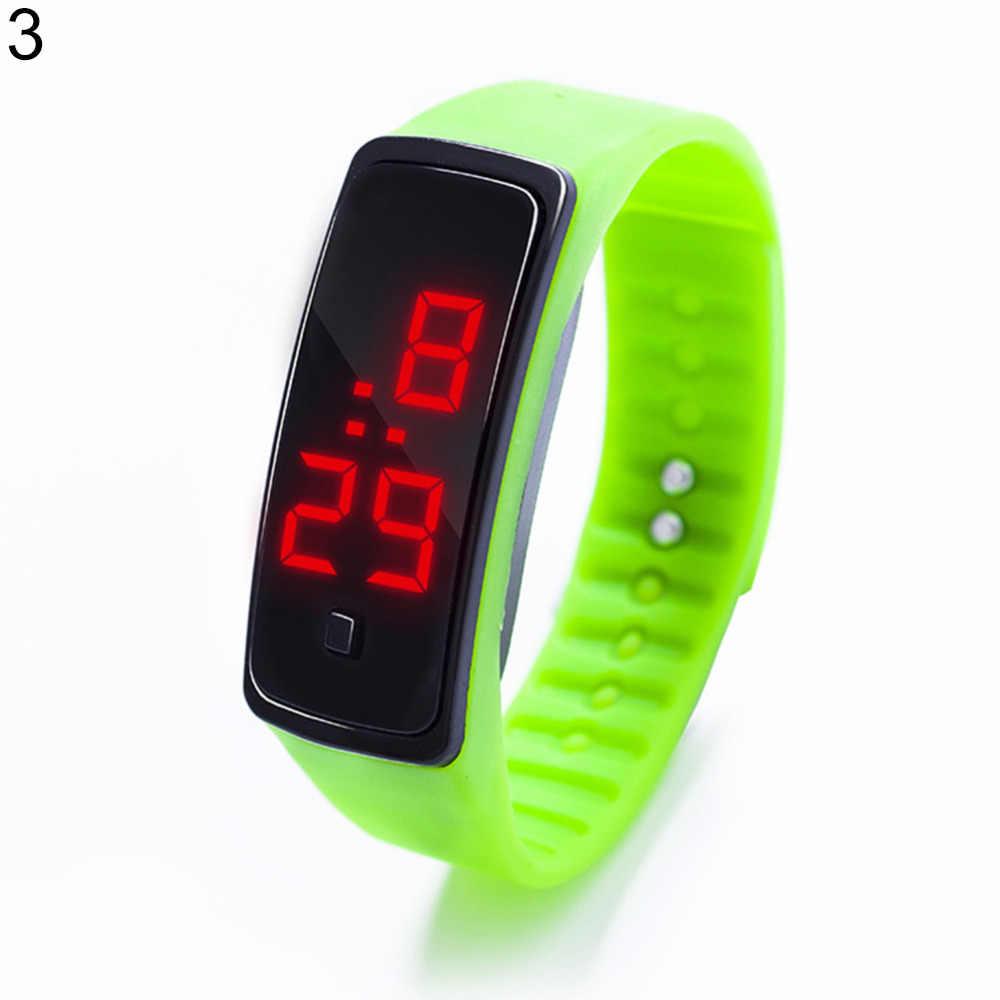 אופנה spor saat Horloge ספורט עמיד למים דיגיטלי שעון יד סיליקון בנד LED אלקטרוניקה כושר חכם שעון גברים נשים