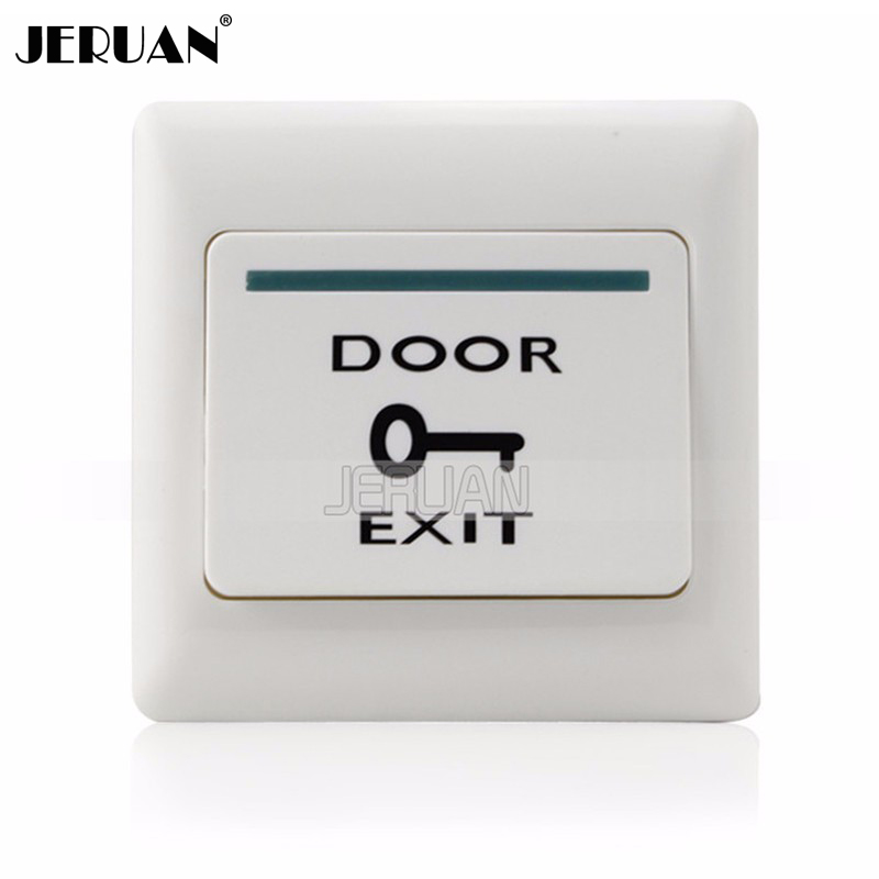 (10 pieces) door exit button automatically restroration push release for access system nomal open signal exit