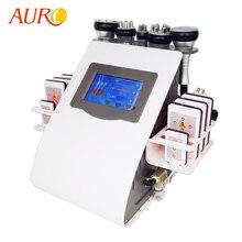 AURO New 6 in 1 Vacuum Ultrasonic Cavitation Liposuction Machine RF Weight Loss Radio Frequency RF Slim Beauty Machine for Free