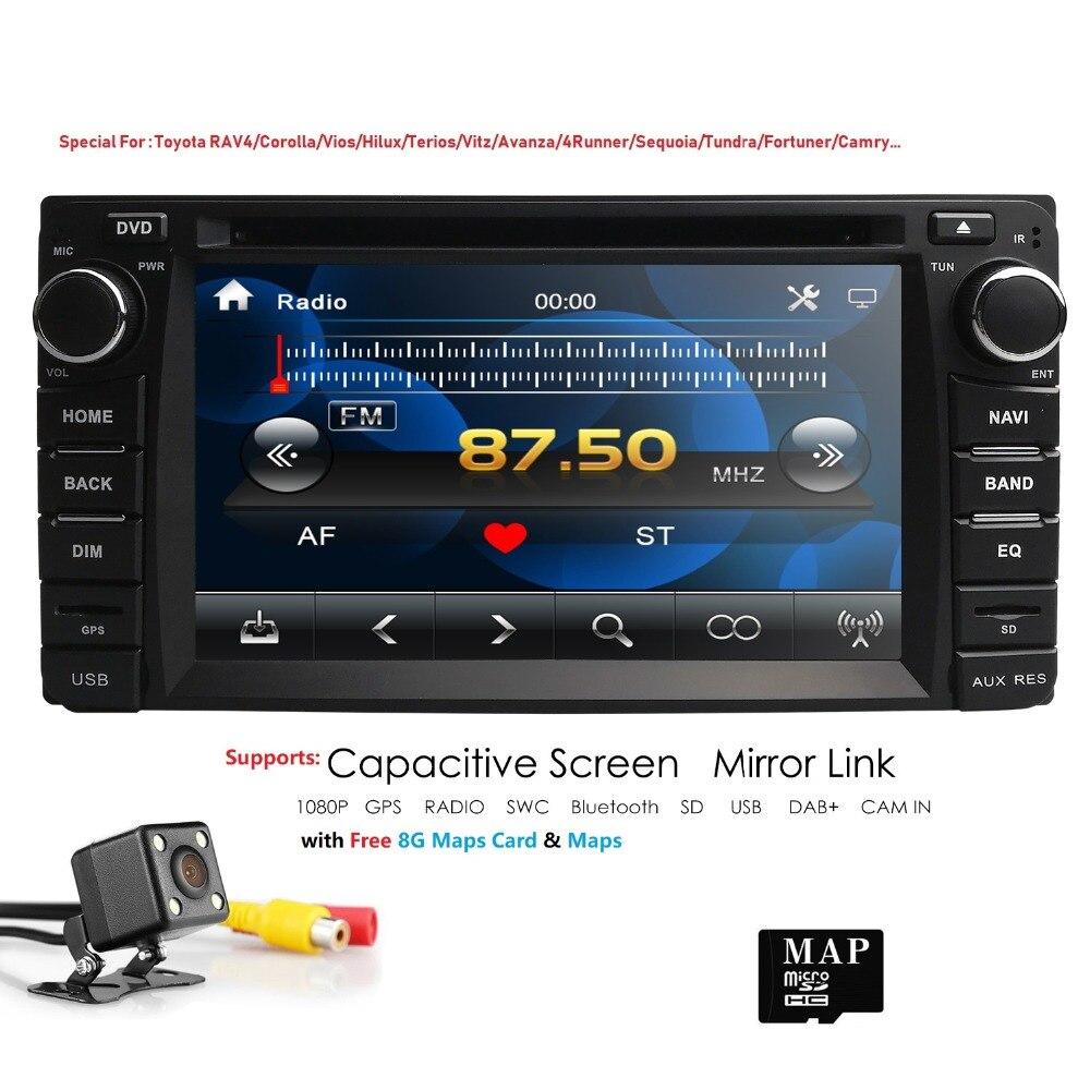 Hizpo 2DIN RADIO GPS lecteur DVD de voiture universel pour Toyota Prado 120 pour Lexus GX470 autoradio GPS Navigation BT caméra de carte gratuite