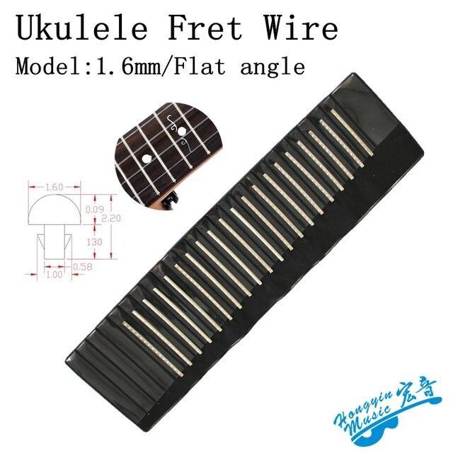 20 pcs set Ukulele Toets Frets Fret Draad Voor Messing Platte Hoek/Hoek Cut Gitaar Reparatie Materiaal Accessoires