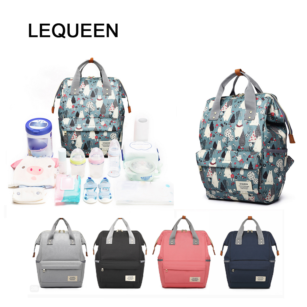 LEQUEEN  Fashion Diaper Bag For Mummy Nappy Bag Large Capacity Nappy Bag Travel Backpack Nursing Bag For Baby Care Bolsa Materni