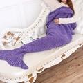 Hot New Mermaid Blanket Knitted Crochet Sofa Beach Sleeping Bed Mermaid Tail Blanket Adults Kids Throw Bed Wrap 90~195cm 2017