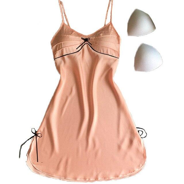 Frauen Satin Nachthemd Sommer Sleepwear Casual Nacht Kleid Plus ...