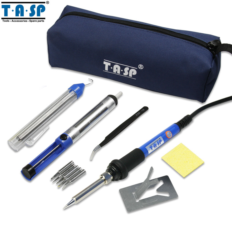 buy tasp 60w electric soldering iron kit welding gun temperature adjustable. Black Bedroom Furniture Sets. Home Design Ideas