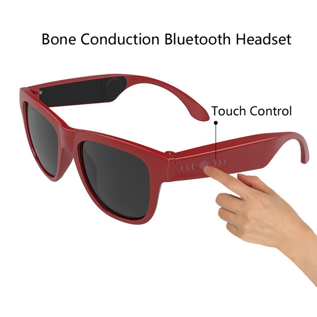 2018 G1 Sunglasses Bluetooth Bone Conduction Headset Smart Touch Smart Glasses Health Sports Wireless Headphones With Microphone