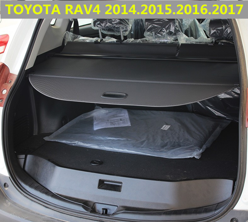 Car Rear Trunk Security Shield Cargo Cover For Toyota Rav4
