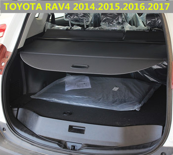 Rear Trunk Security Shield Cargo Cover For Toyota RAV4 2013 2014 2015 2016 2017 2018 High Qualit Shade Security image