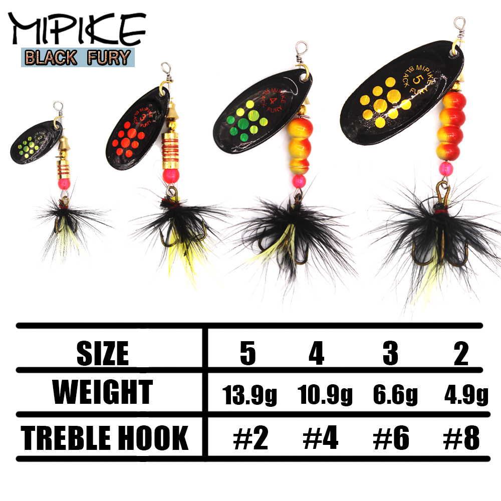 1PC  Spinner Lure Bait 5g 7g 10.5g 13.5g Spoon Lures Pike Metal Fishing Lure Bass Hard Bait With Feather Treble Hooks Aglia
